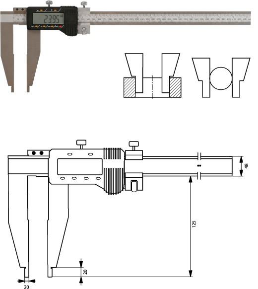 Digitale Werkstatt-Schieblehre 1000mm