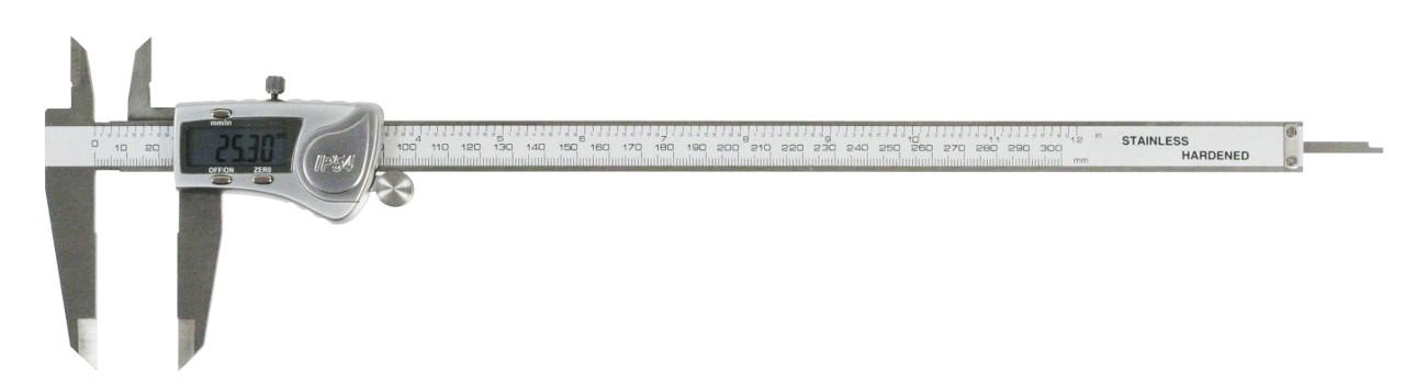 Digitale Schieblehre, spritzwassergeschützt nach IP54, Metallgehäuse 0-300mm
